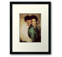 PRESIDENT OBAMA & THE FIRST LADY Framed Print
