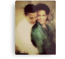 PRESIDENT OBAMA & THE FIRST LADY Metal Print