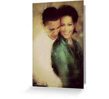 PRESIDENT OBAMA & THE FIRST LADY Greeting Card