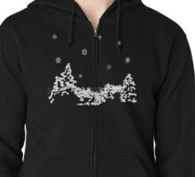 Winters Night Tee Zipped Hoodie