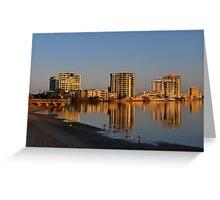 Maroochy River Sunrise. Maroochydore, Queensland, Australia Greeting Card