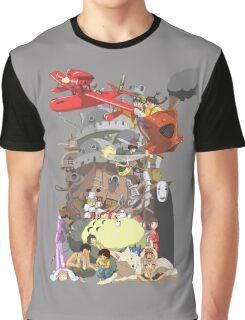 Studio Ghibli Characters Graphic T-Shirt
