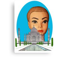 head of the taj mahal Canvas Print