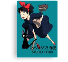 Kiki and Jiji - Studio Ghibli Canvas Print