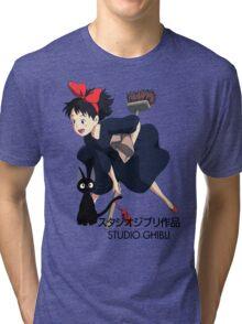 Kiki and Jiji - Studio Ghibli Tri-blend T-Shirt