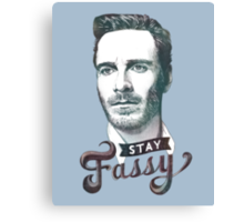 Stay Fassy (blue) Canvas Print