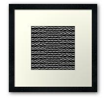 Simple Modern Black & White Swirly Stripes Framed Print