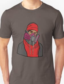 Gas Masked Protester Unisex T-Shirt