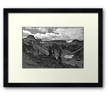 heather meadows, wa, usa Framed Print