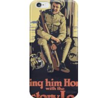 Bring him home with the Victory Loan iPhone Case/Skin