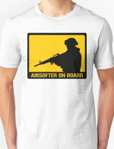 Airsofter on board Unisex T-Shirt