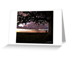 Wet season sunset. Derby, West Kimberley, Western Australia. Greeting Card