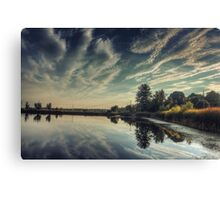 Clouds Above, Reflections below.. Canvas Print