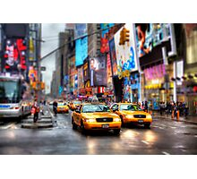 Times Square Tilt & Shift Photographic Print