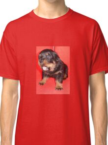 Rottweiler Puppy Howling For Attention Classic T-Shirt