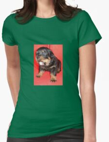 Rottweiler Puppy Howling For Attention T-Shirt