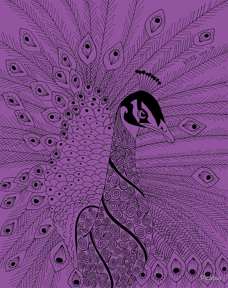 Purple Peacock by Picatso