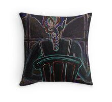 Wine, Woman and Neon Throw Pillow