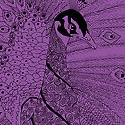 Purple Peacock - iPhone case by Picatso