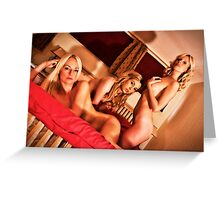 Triple Trouble by Aquinas Greeting Card