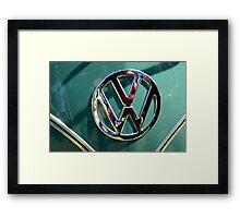 auto badge Framed Print