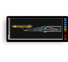 NX-01 Enterprise Systems Overview Canvas Print