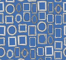 picture frames blue by Sharon Turner