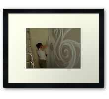 painting into a corner Framed Print