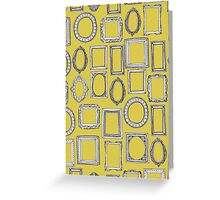 picture frames yellow Greeting Card