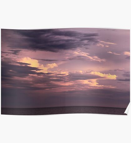 Clearing Storm Clouds over the Atlantic Poster