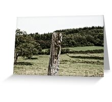 Rural Barbed Wire Greeting Card