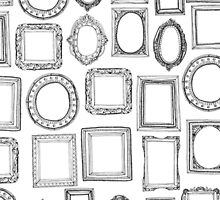 picture frames mono by Sharon Turner