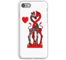 Giraffe Love - Passionate Red iPhone Case/Skin