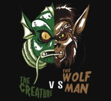 Creature vs Wolfman by monsterfink