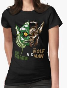 Creature vs Wolfman Womens Fitted T-Shirt