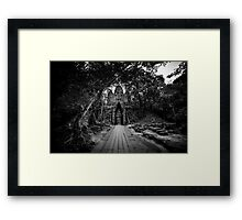 Angkor Thom West Gate - Front Framed Print