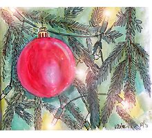 Christmas Tree Glow Photographic Print