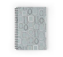 picture frames grey Spiral Notebook