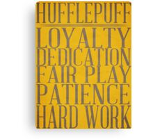 Hufflepuff (Harry Potter) Canvas Print