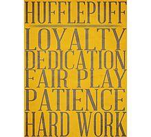 Hufflepuff (Harry Potter) Photographic Print