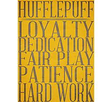 Hufflepuff (Harry Potter) Photographic Print