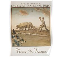 Crédit Lyonnais Emprunt National 1920 Terre de France Poster