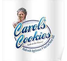 Famous Carol's Cookies Logo Poster