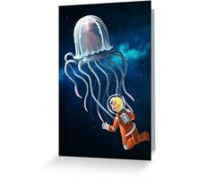 Space Jellyfish Greeting Card