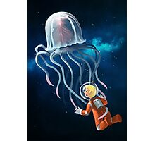 Space Jellyfish Photographic Print
