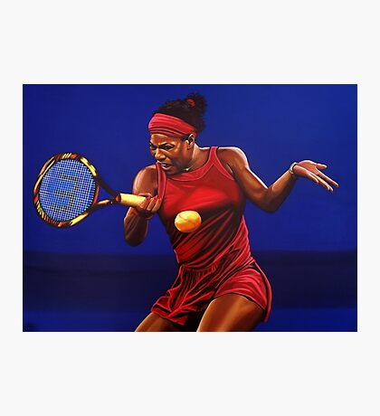 Serena Williams painting Photographic Print