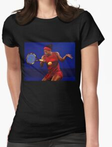 Serena Williams painting Womens Fitted T-Shirt