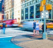 Time Square - Rush by Frank Mamone