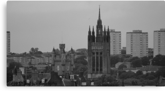 aberdeen (view from harbour inland) by Steve Shand
