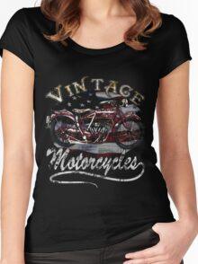 Vintage Motorcycle Tee Women's Fitted Scoop T-Shirt